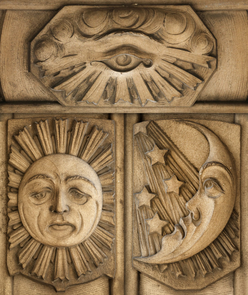 Detroit Masonic Temple architectural carvings