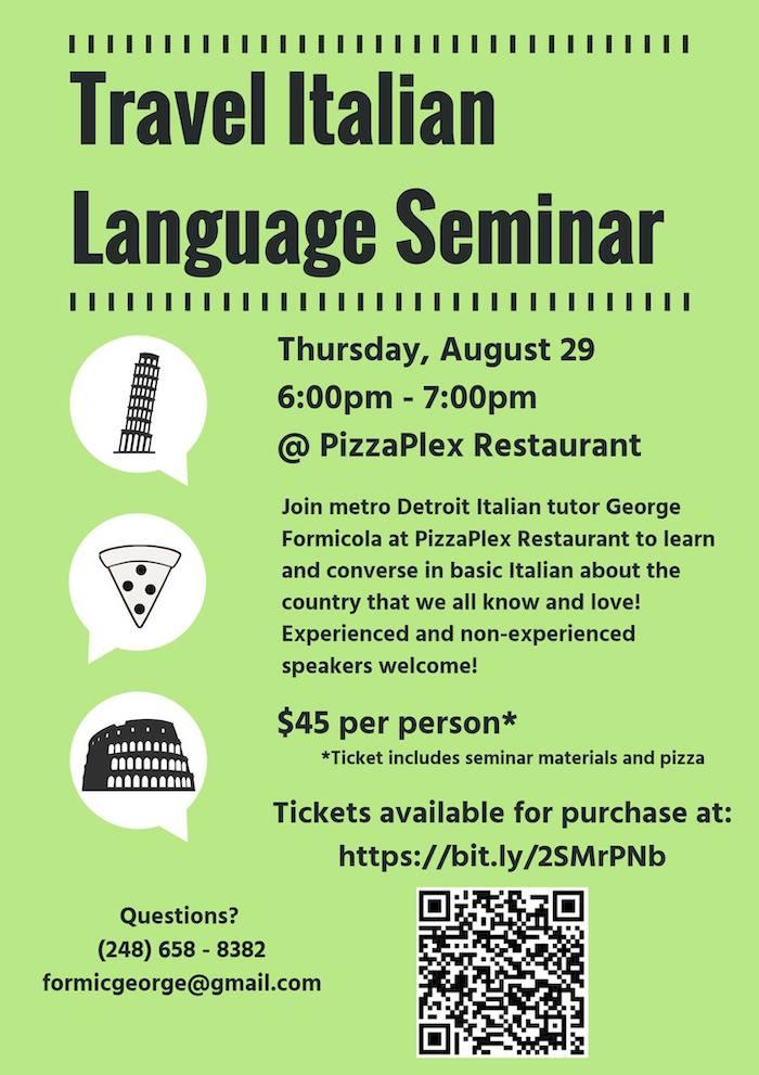 Italian lessons at PizzaPlex