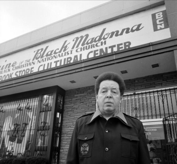 Shrine founder Jaramogi Abebe Agyeman at the Shrine of the Black Madonna Bookstore and Cultural Center.