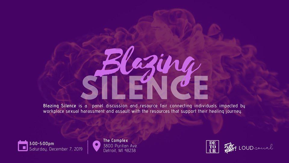 blazing silence detroit cannabis flyer