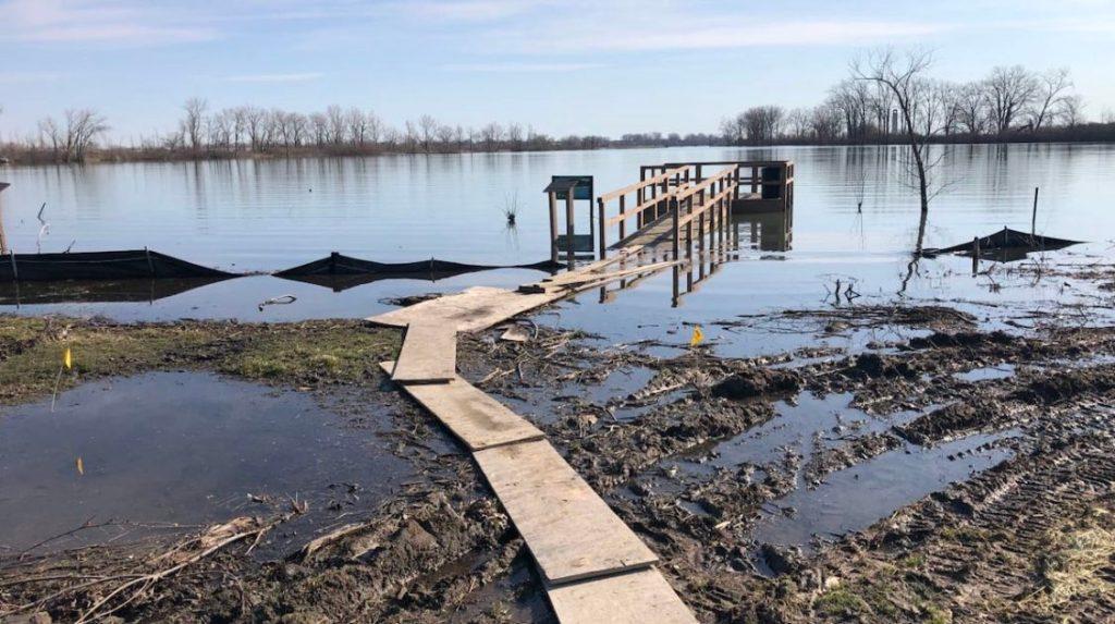 Belle Isle flooded