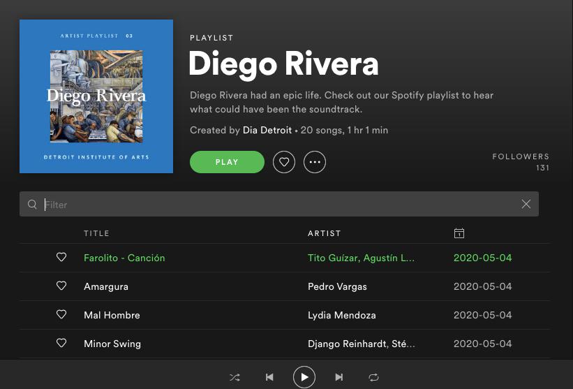 DIA Spotify playlist
