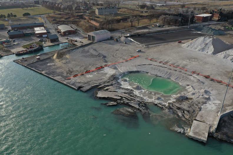 drone shot of revere site