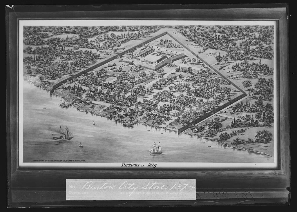 Detroit in 1819 map