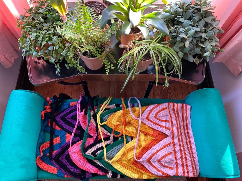 image of handmade knit/crochet tops