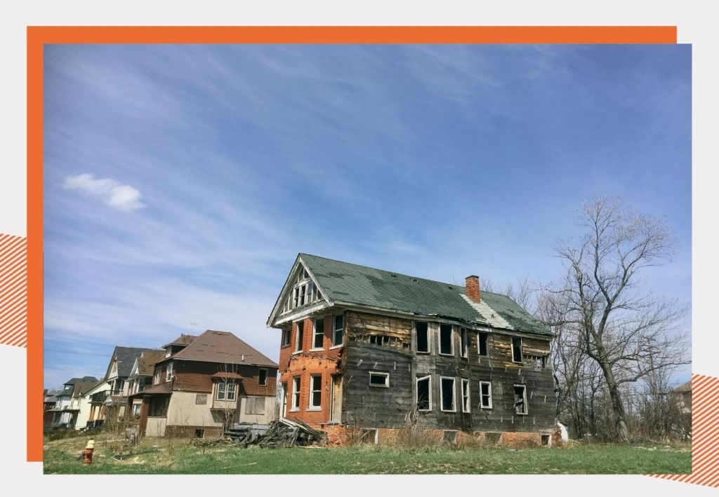 Blighted house in Detroit. Proposal N is a ballot initiative that aims to demolish 8,000 blighted homes in Detroit