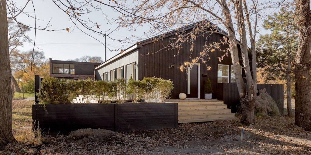 A contemporary home built in Detroit's North Corktown neighborhood by artist couple Steve and Dorota Coy