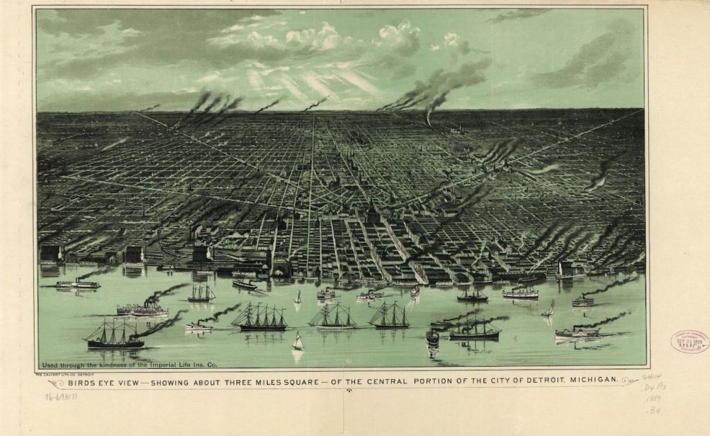 detroit map turn of the century