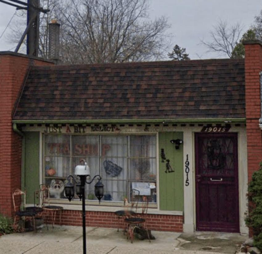 the front of just a bit eclectic from a google street view photo