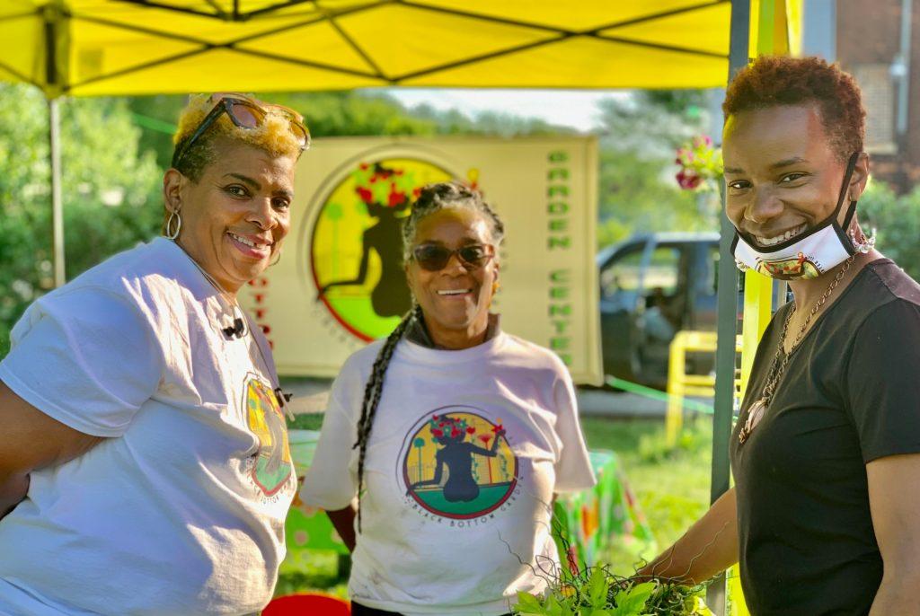 carol, imani, and djenaba -- three of the six founders of black bottom garden center