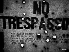 No Tresspass