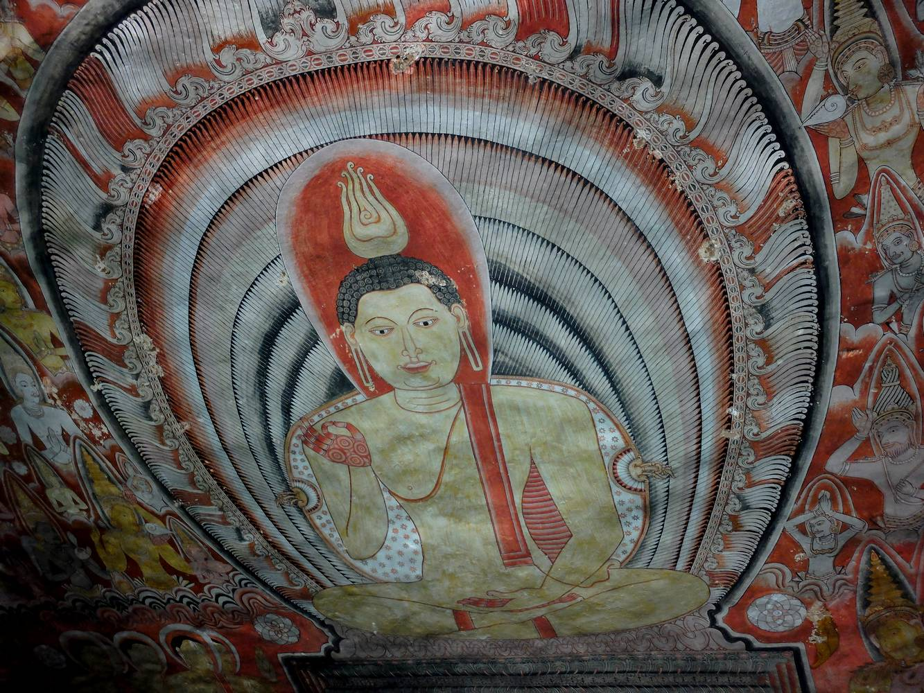 dambulla temples paintings