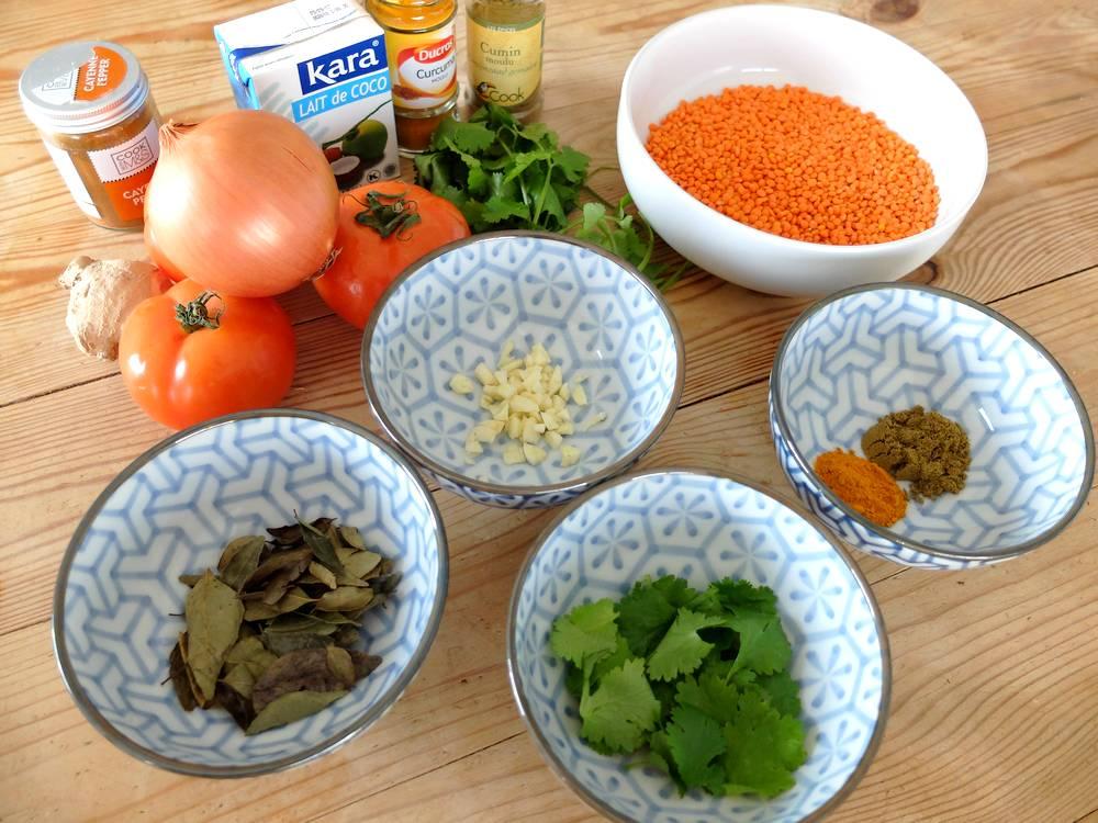 recette dahl lentilles corail