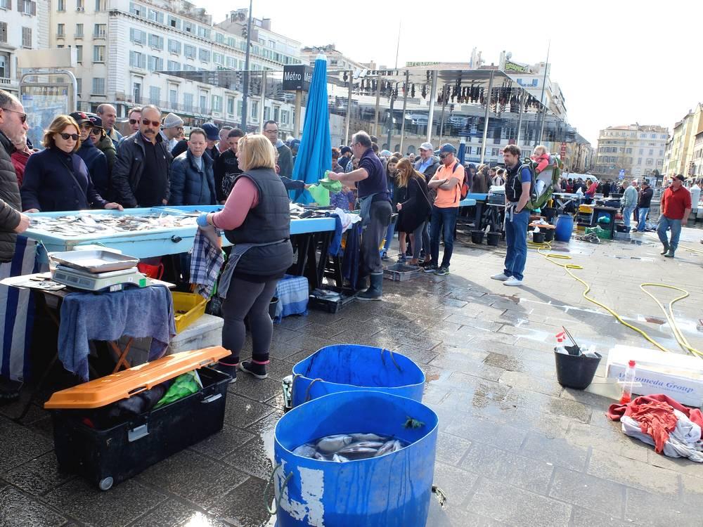 marché poissons marseille