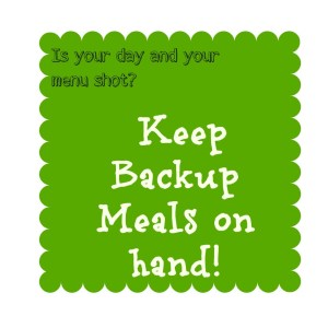 Backup Meals - Detours in Life