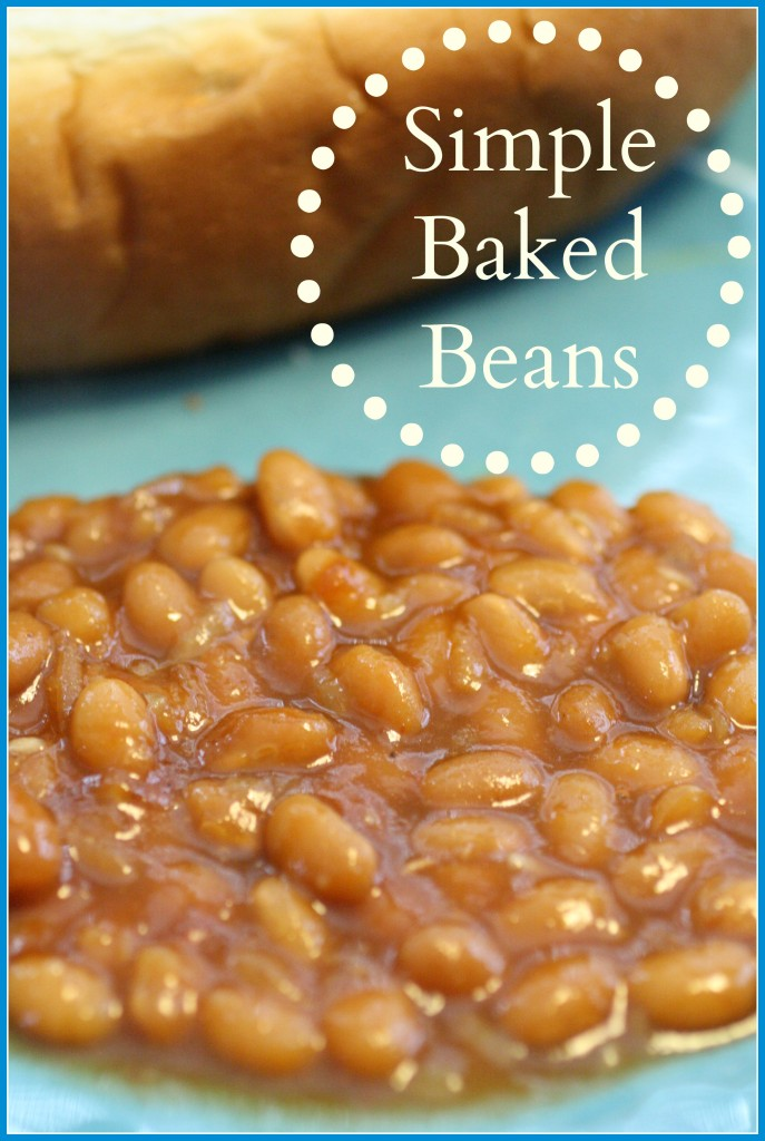 Simple Baked Beans - Detours in Life