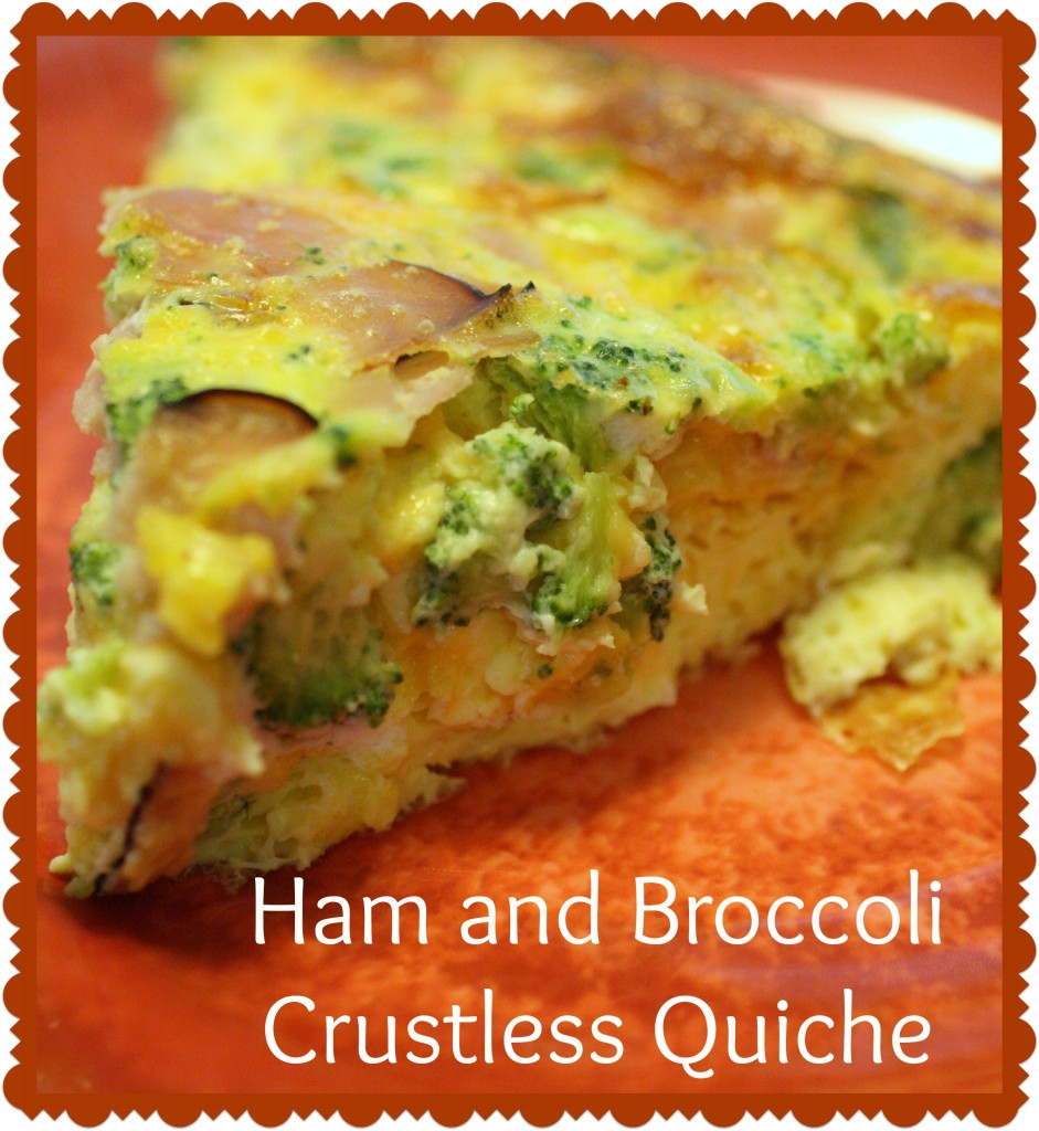 Ham and Broccoli Crustless Quiche - Detours in Life