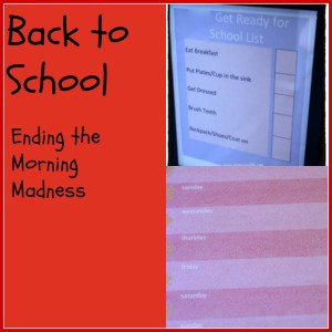 Back to School - Ending the Morning Madness - Detours in Life