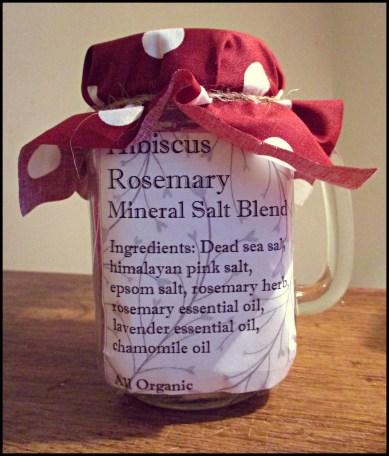 Mineral Salt Blend - Rosemary Lavender Ingredients