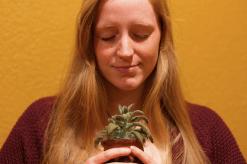 kirbie-with-plant