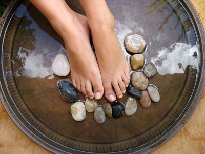 bain de pieds detox