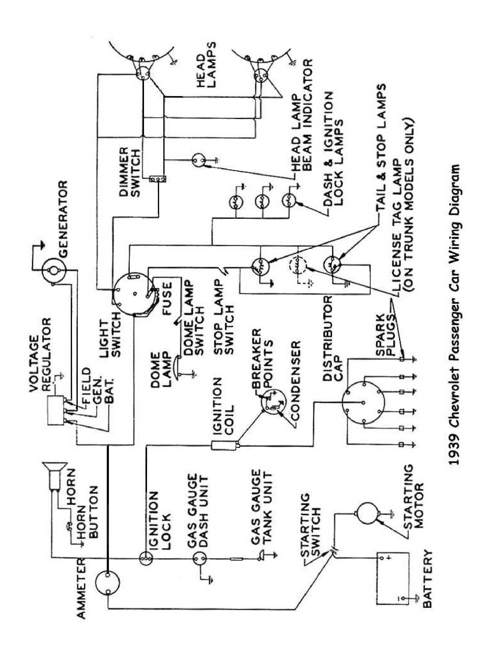 Chevy Bel Air Wiring Diagram