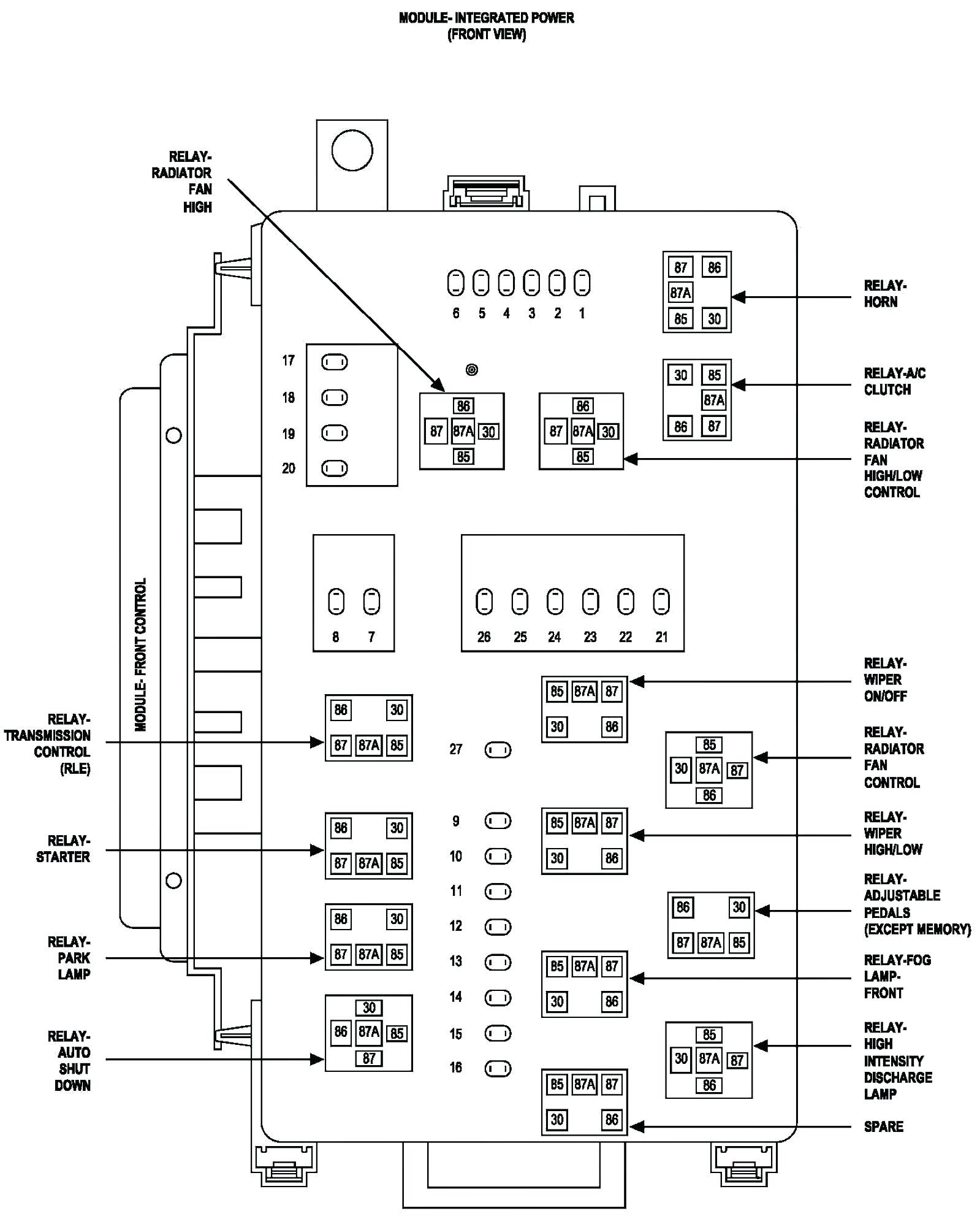Lincoln Towncar Fuse Box Diagram