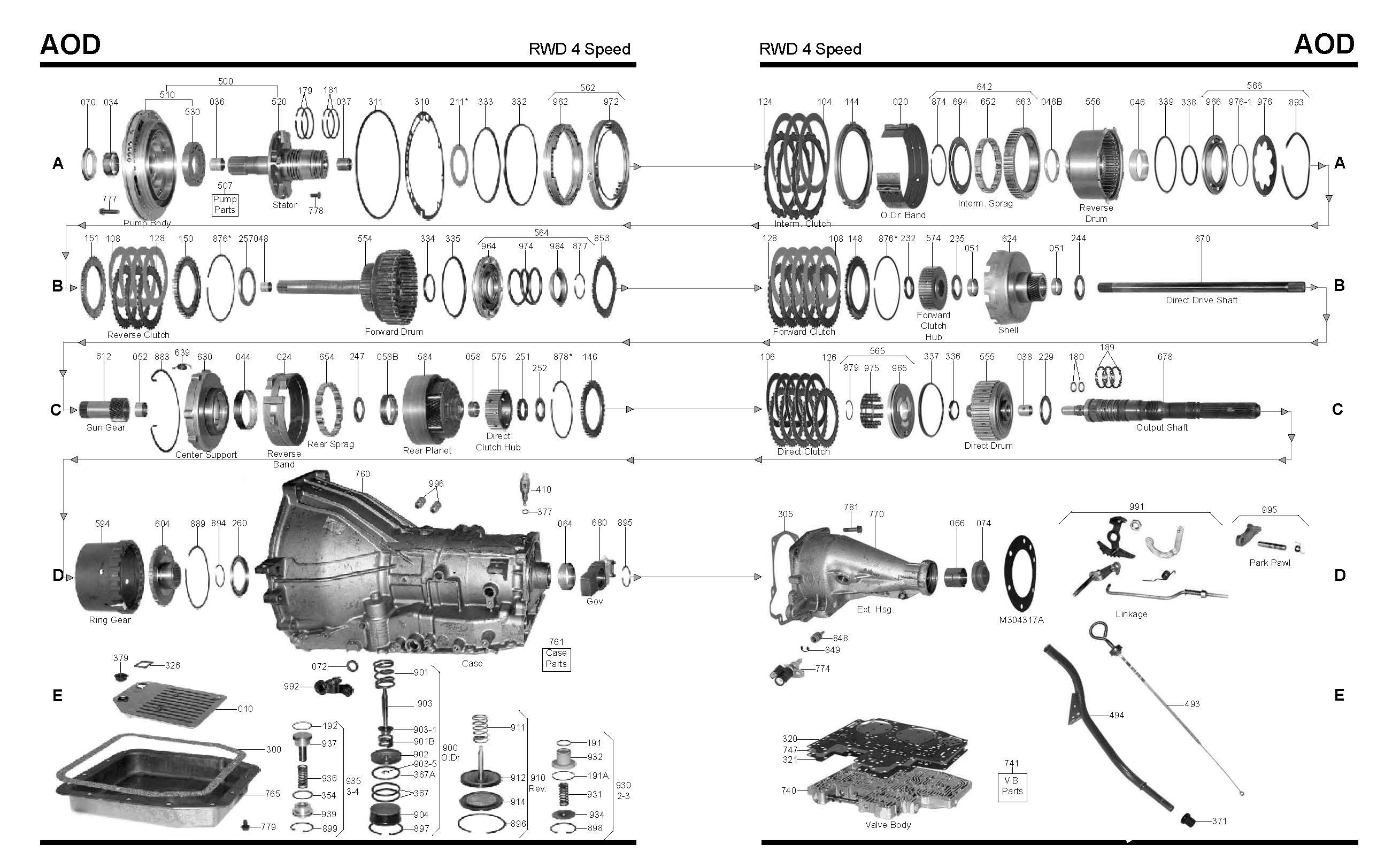 4l60e Transmission Parts Diagram