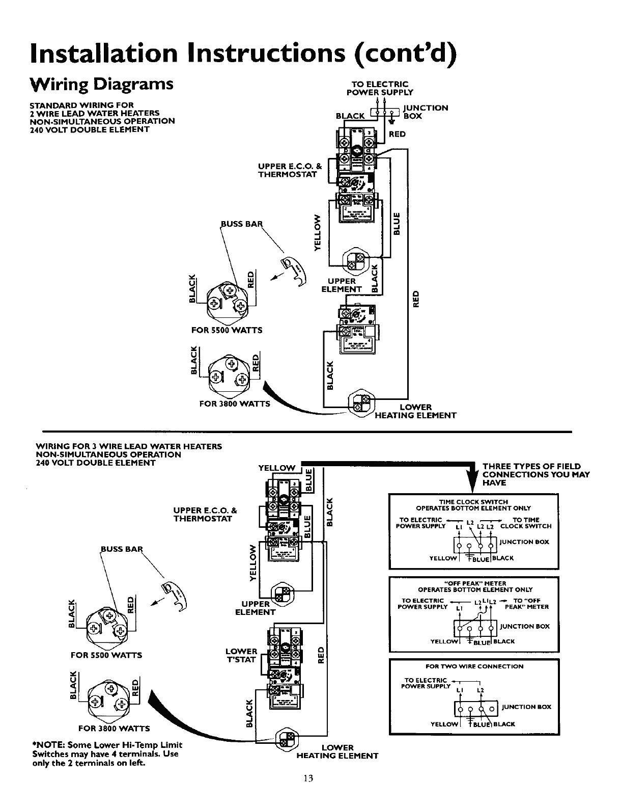 Rv Water Heater Parts Diagram