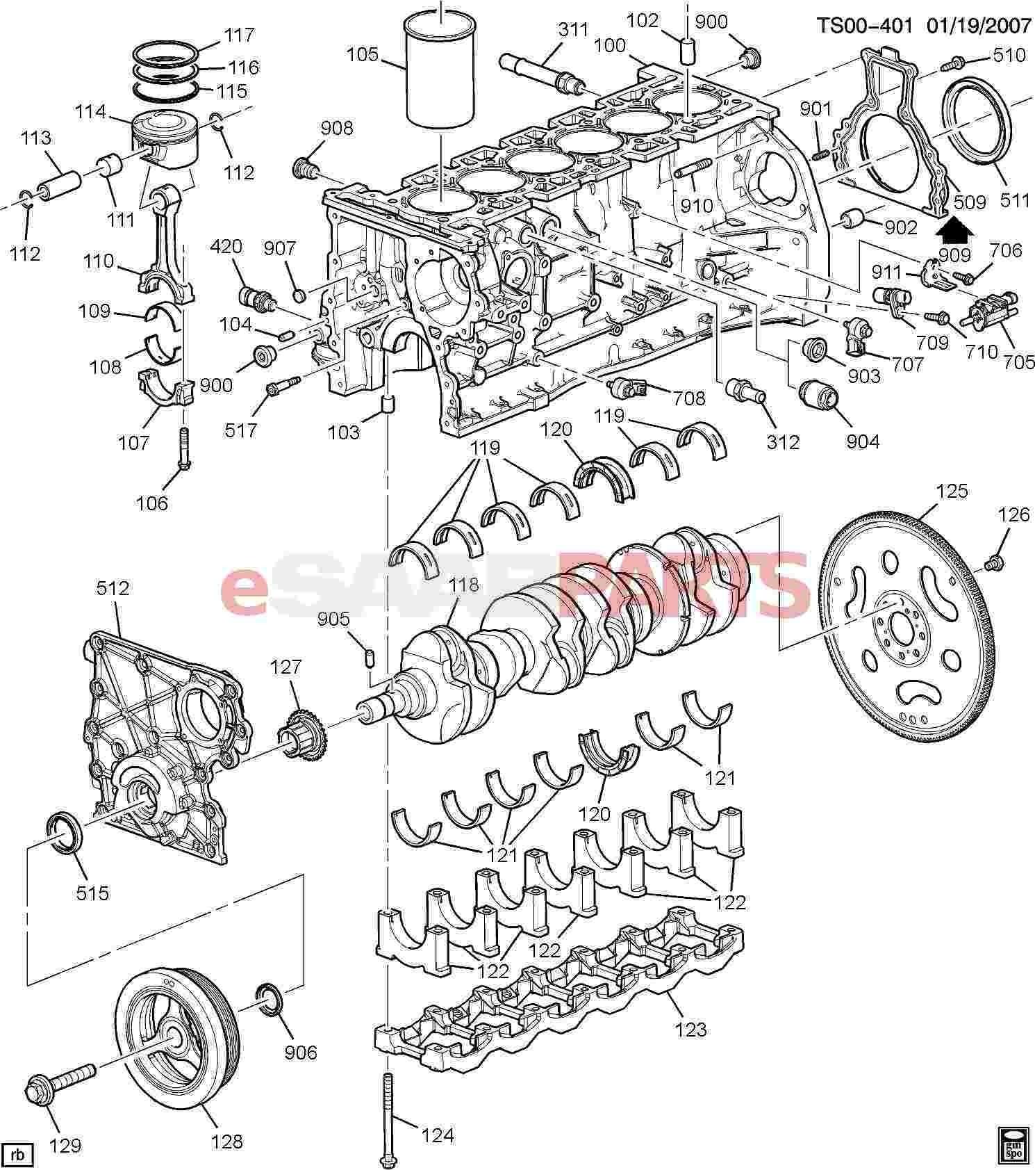 Auto Engine Parts Diagram