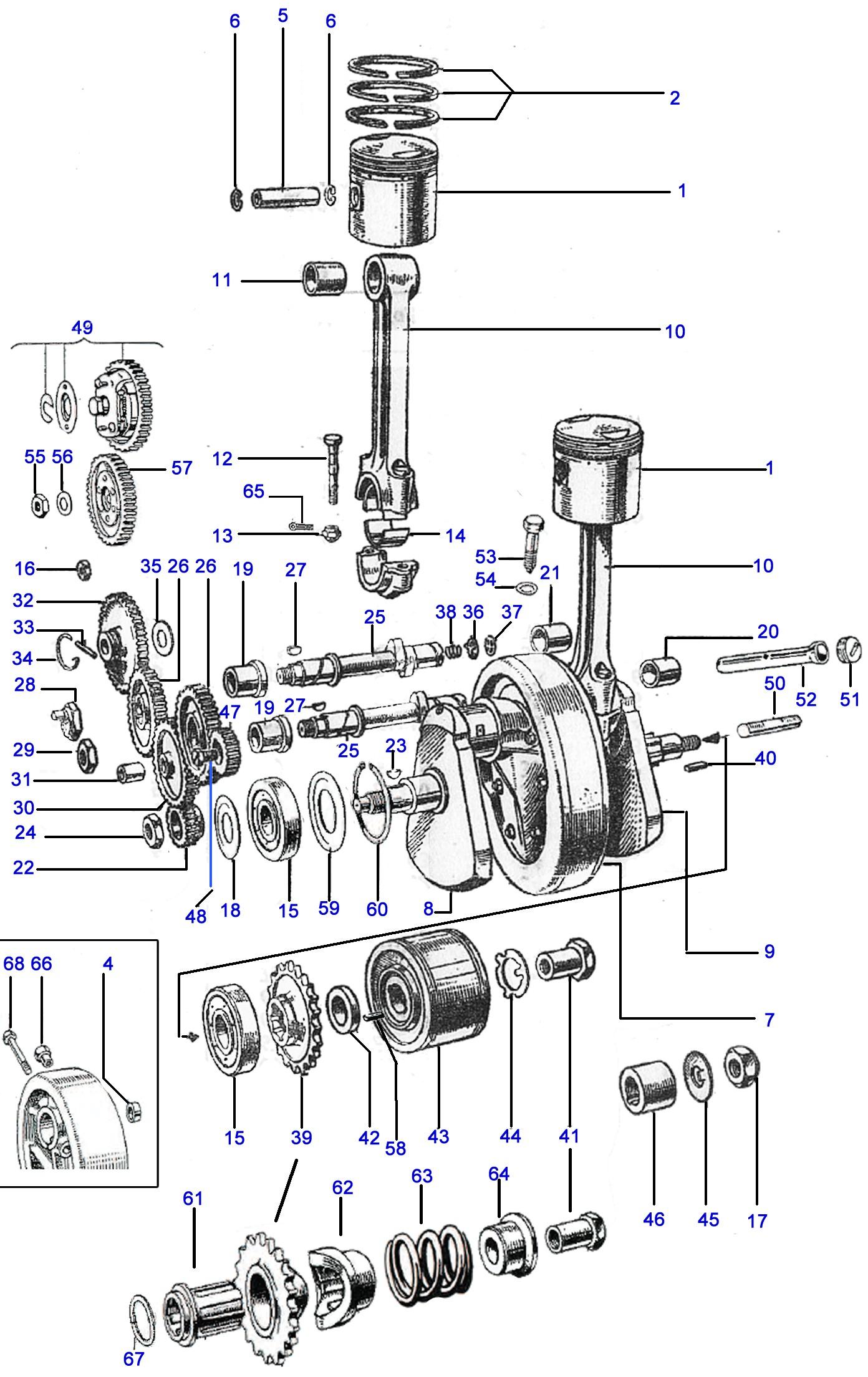 Bsa C15 Engine Diagram
