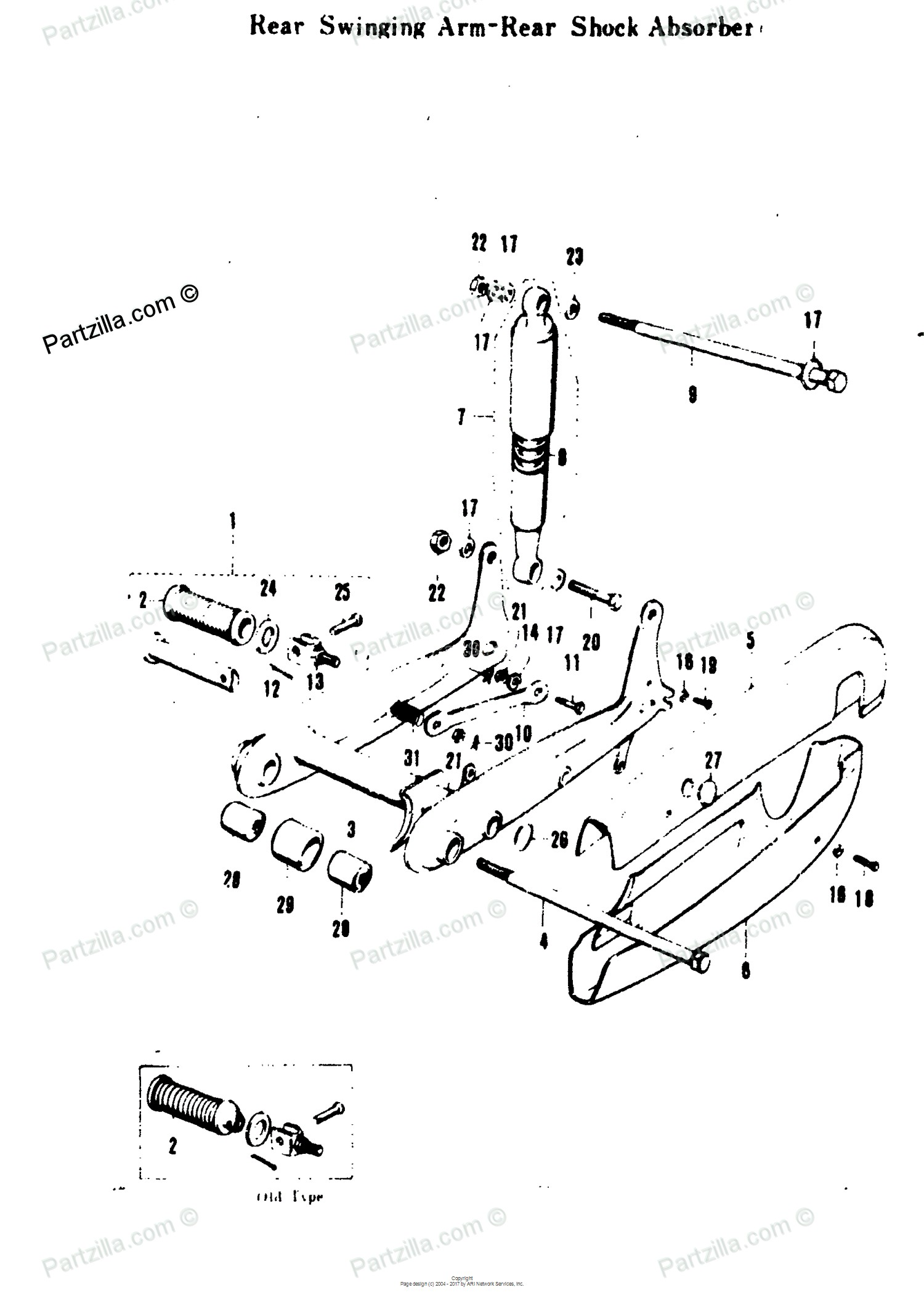 Car shock absorber diagram suzuki motorcycle 1969 oem parts diagram for rear swinging arm rear