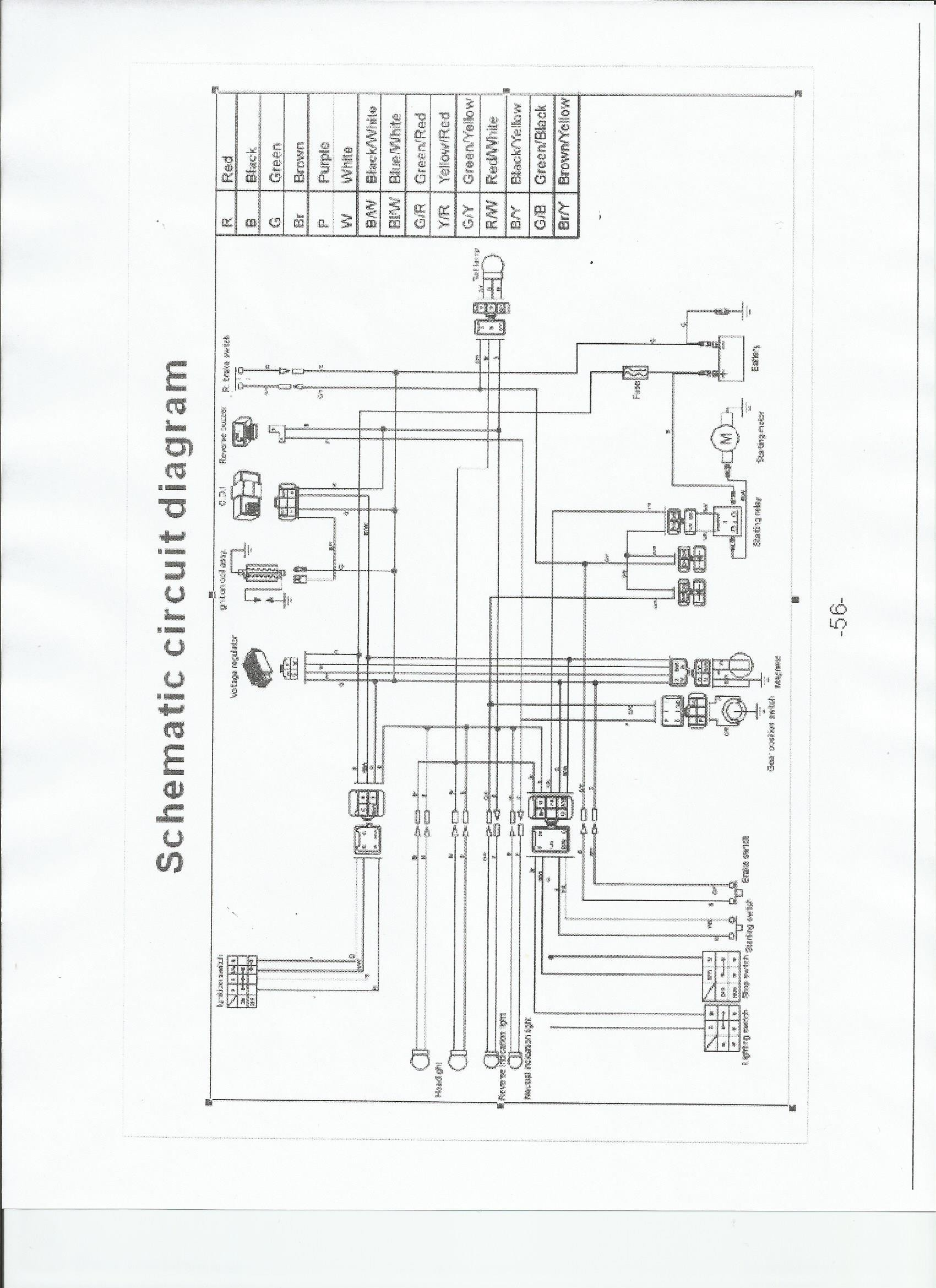 125cc 4 stroke atv wiring diagram repair manual Peace Sports 125Cc ATV Wiring Diagram