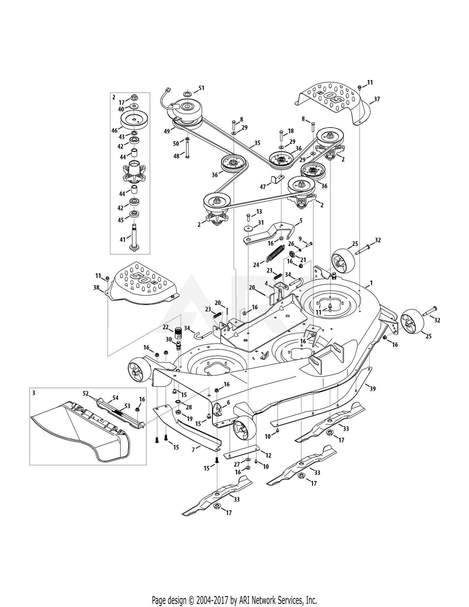 Cub cadet mower deck parts diagram cub cadet parts diagrams cub cadet rzt50 kohler 17wf2acp 2011