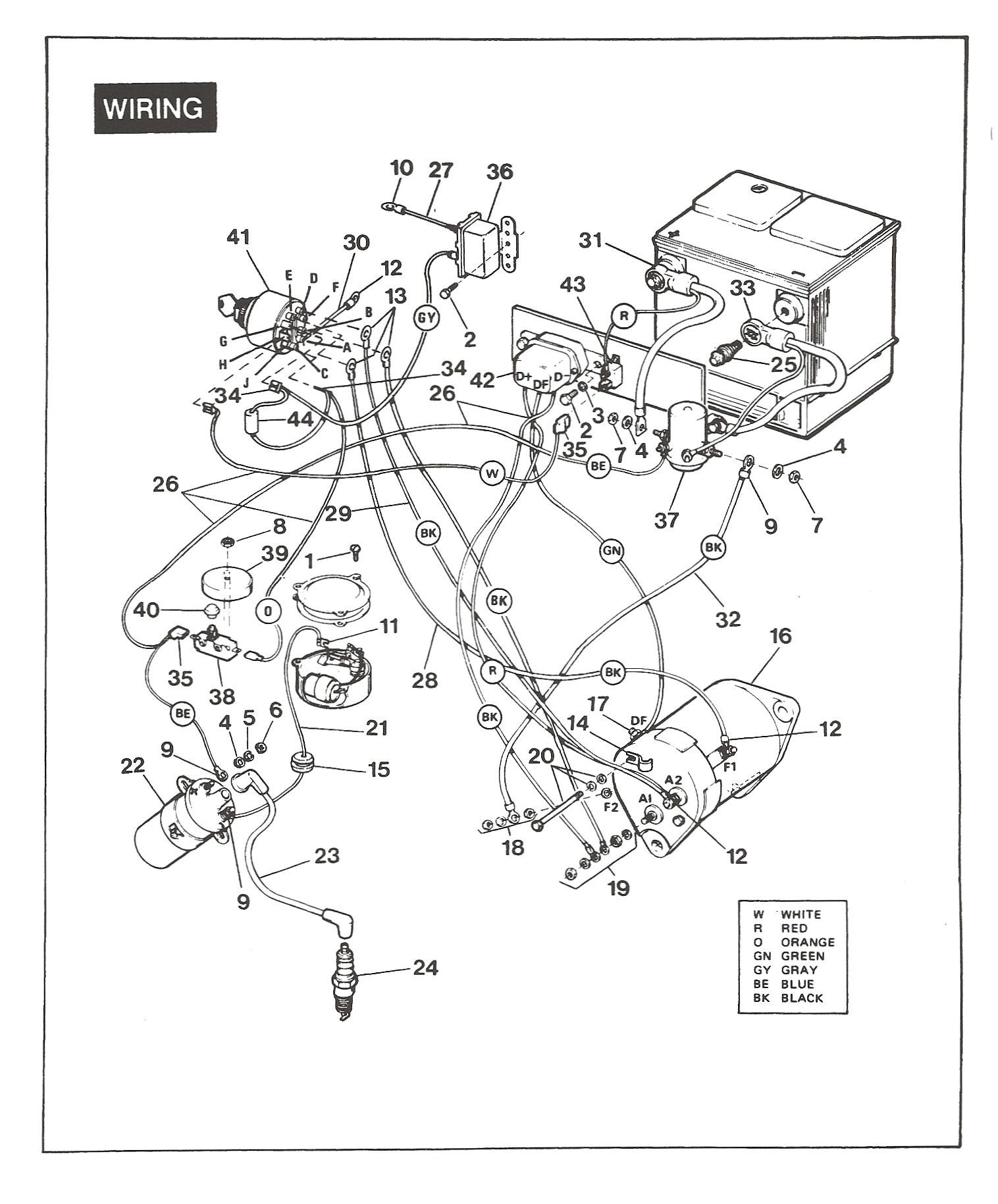 Ezgo Electric Golf Cart Wiring Diagram