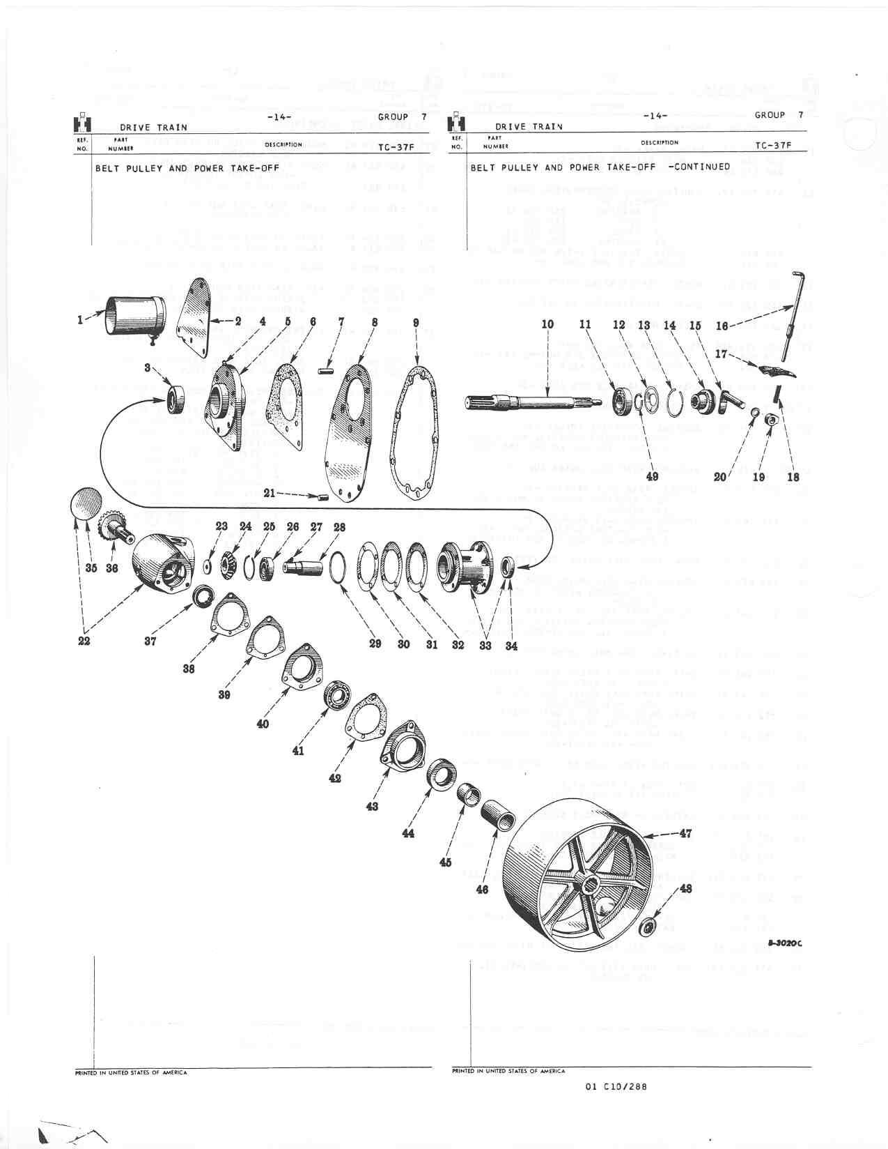 Farmall Cub Parts Diagram