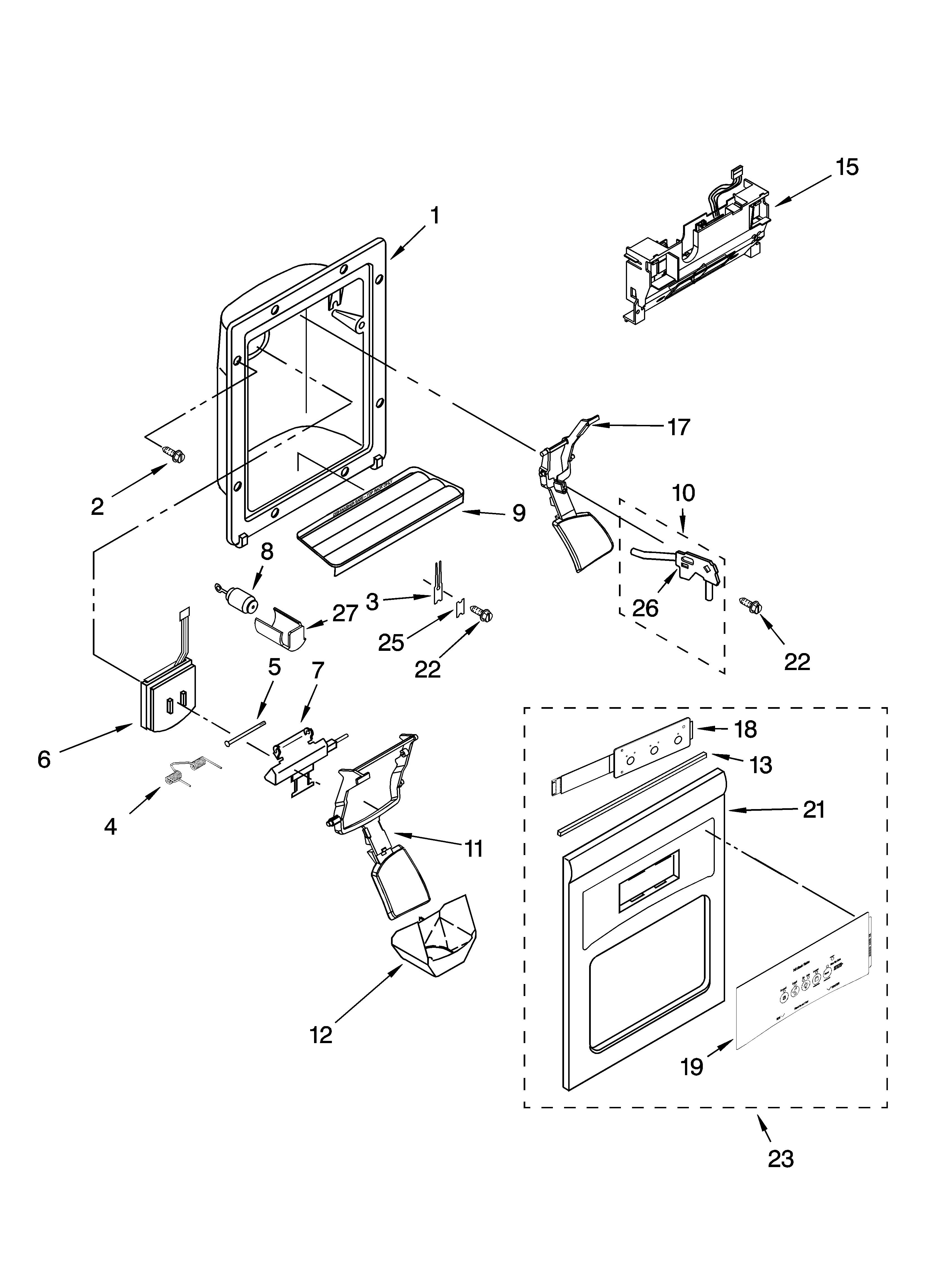 Ge Ice Maker Parts Diagram