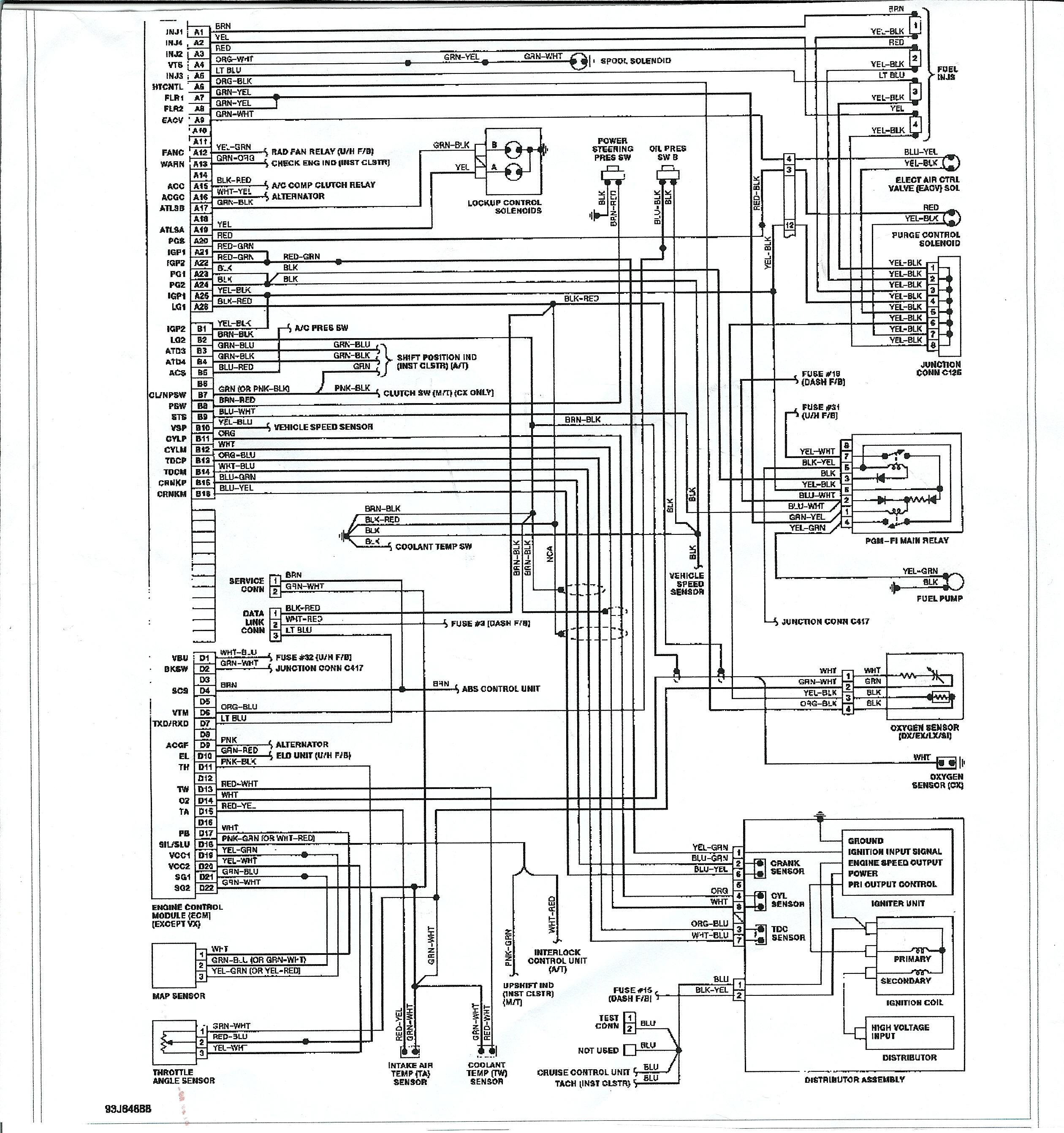 Honda B16 Wiring Diagram