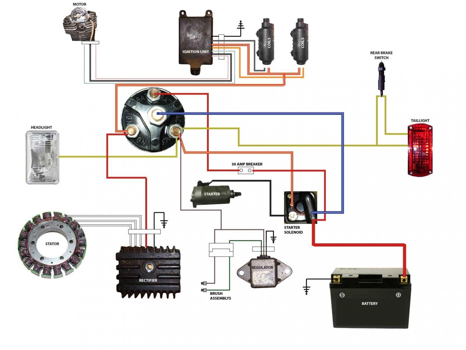 1981 Virago Wiring Diagram Data Schematics 1997 Polaris Sportsman Yamaha Xv750 Rh Maerkang Org 750 500