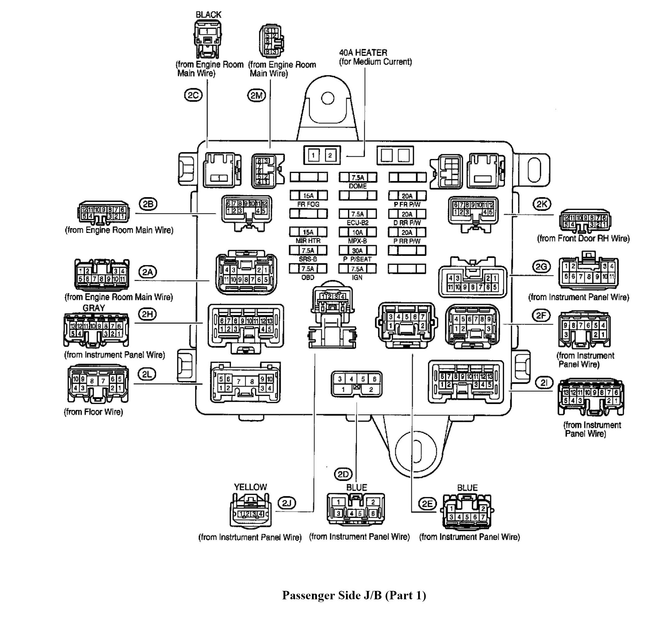 Diagram Alternator Lexus Es300 Fuse Box Diagram Full