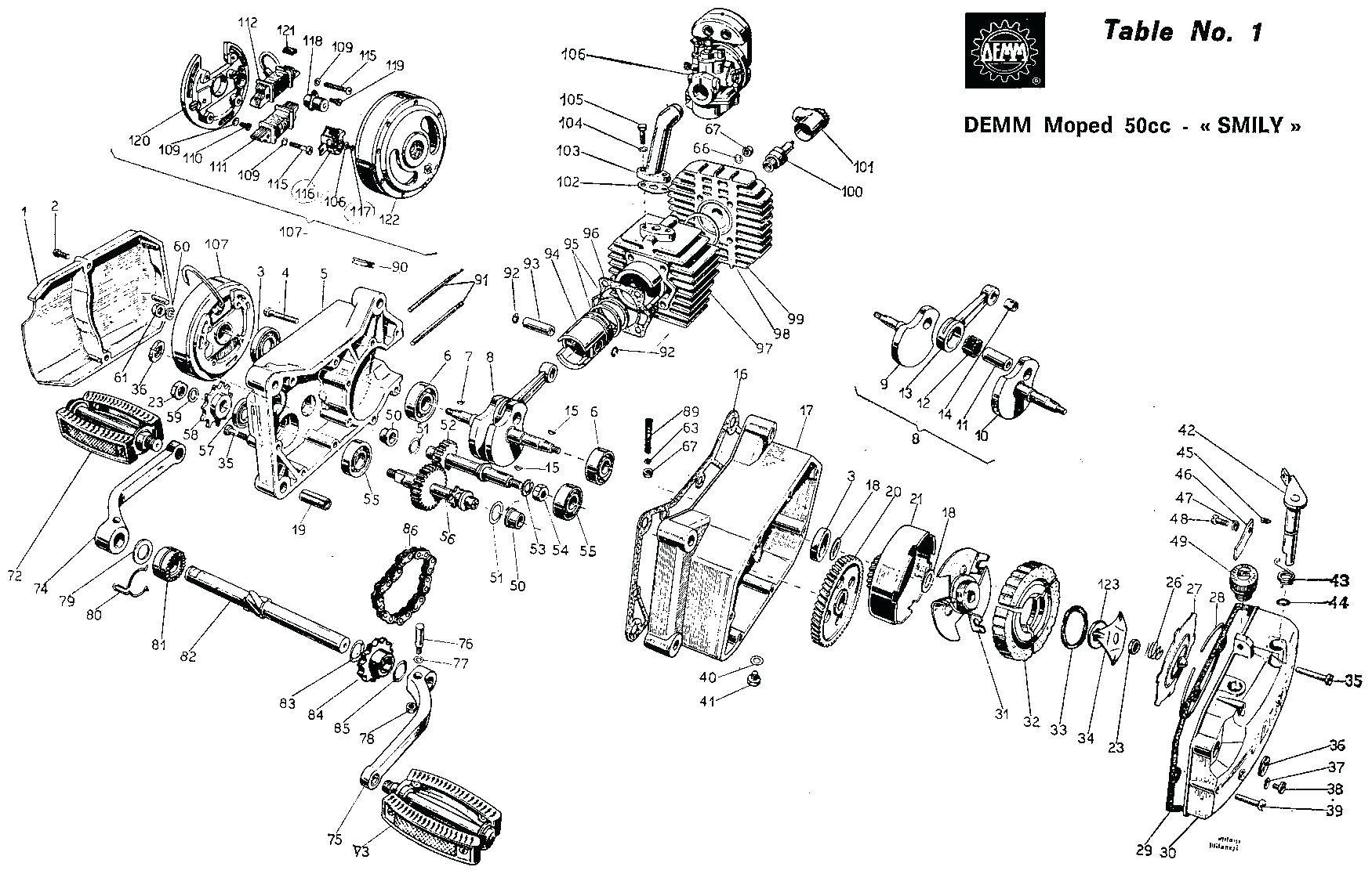 Tomos A55 Engine Diagram Tomos Fairings Side Covers