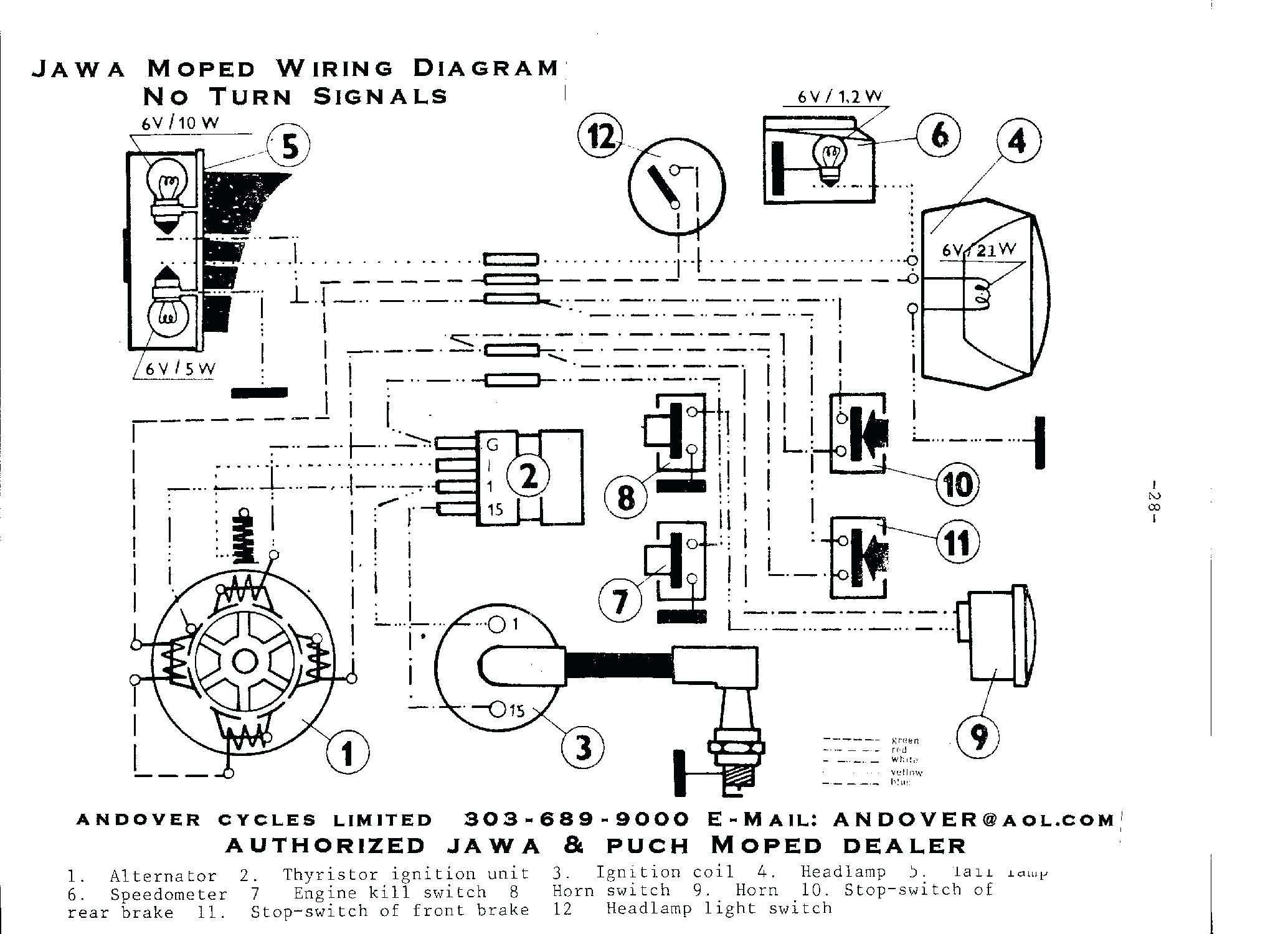 49cc Scooter Wiring Diagram