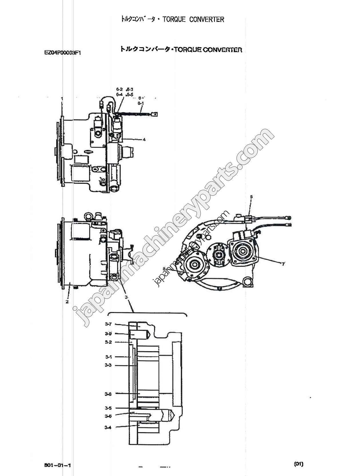 Torque Converter Diagram Parts For Kobelco Rk250 5 My
