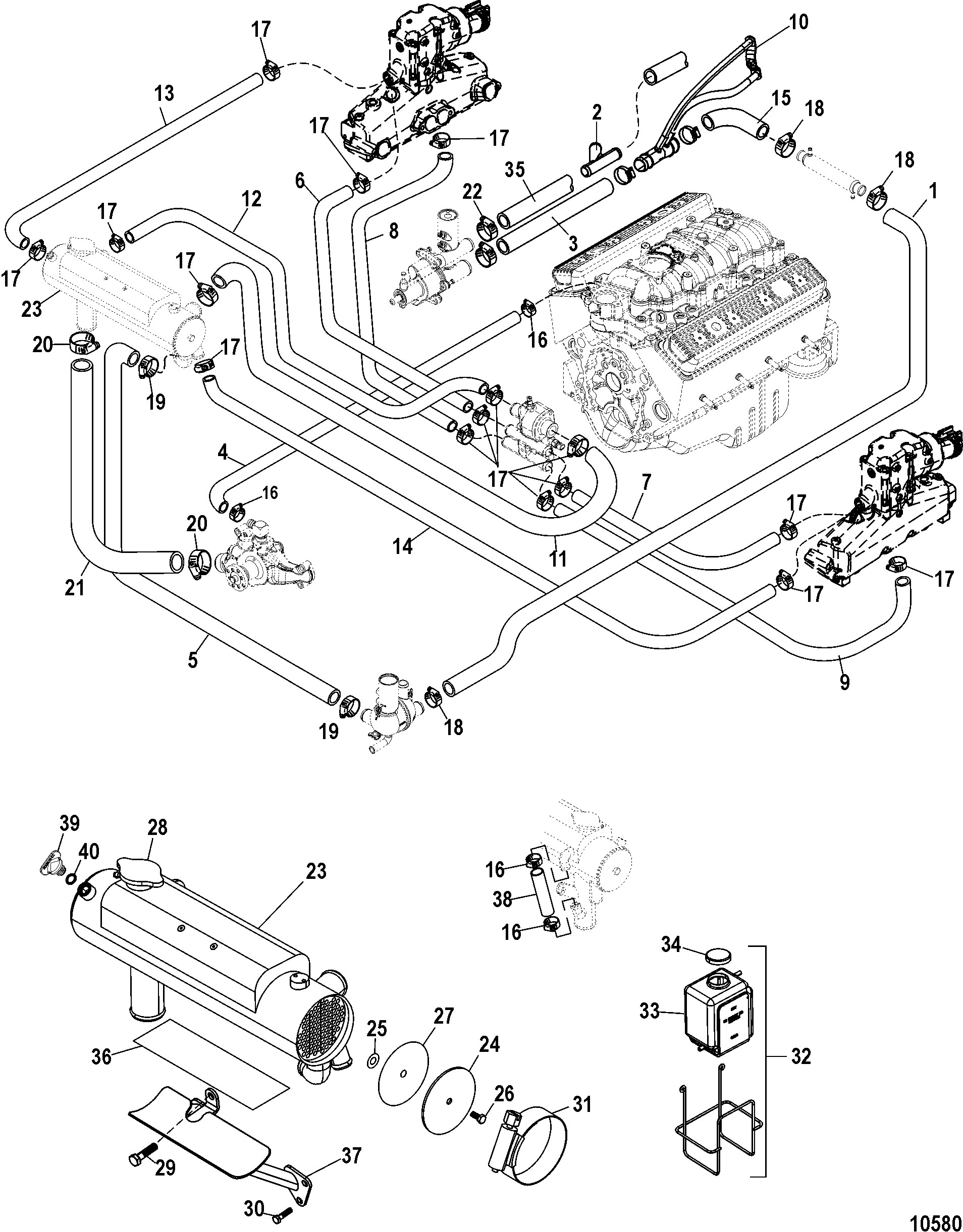 Mercury mercruiser 5 7l mpi horizon mie 1a up likewise 2001 nissan pathfinder wiring diagram as well 1996 nissan bmw x5 transmission cooler and thermostat