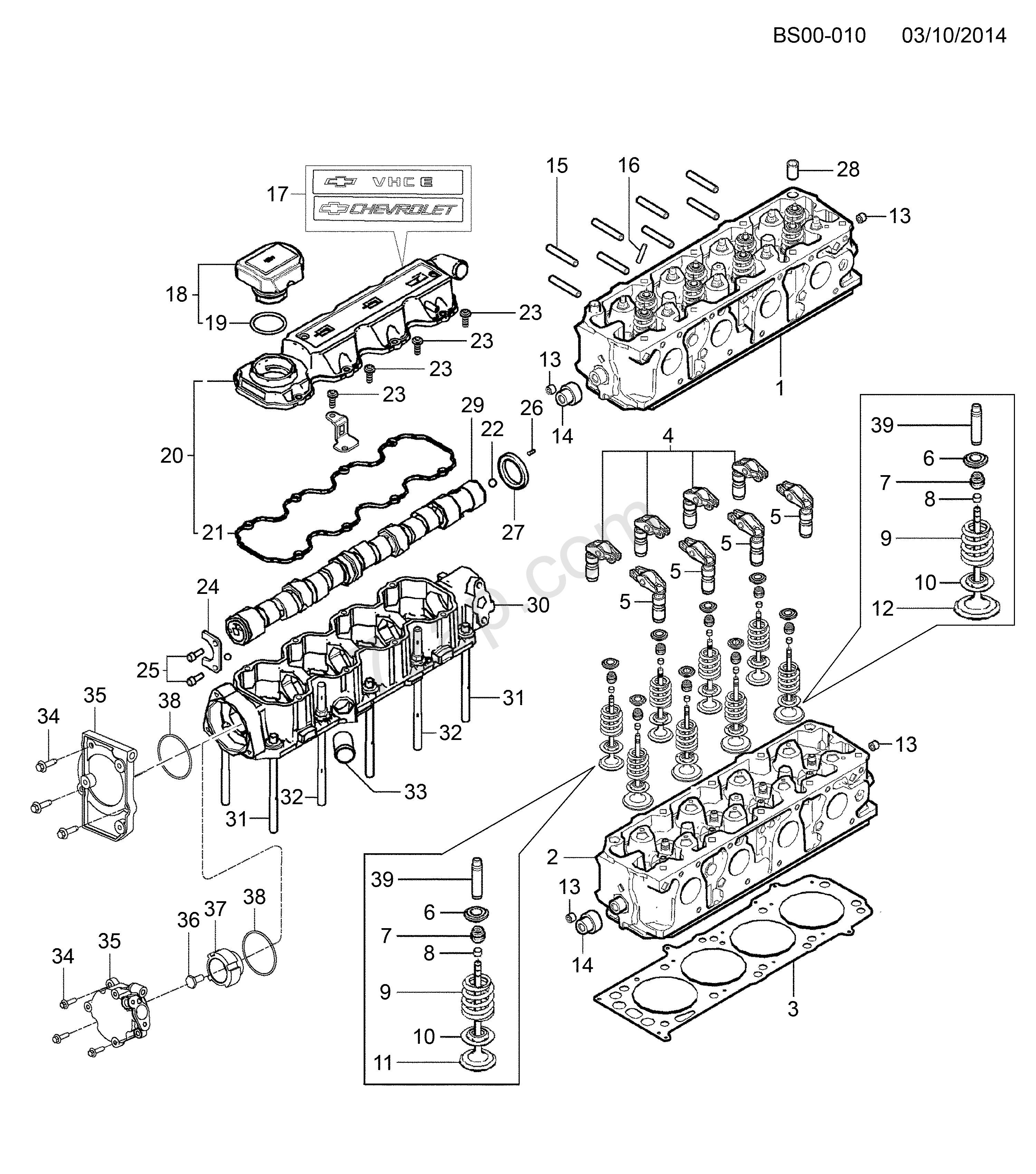6 cylinder engine diagram 2011 2017 s19 cylinder head chevrolet corsa corsa of 6 cylinder engine