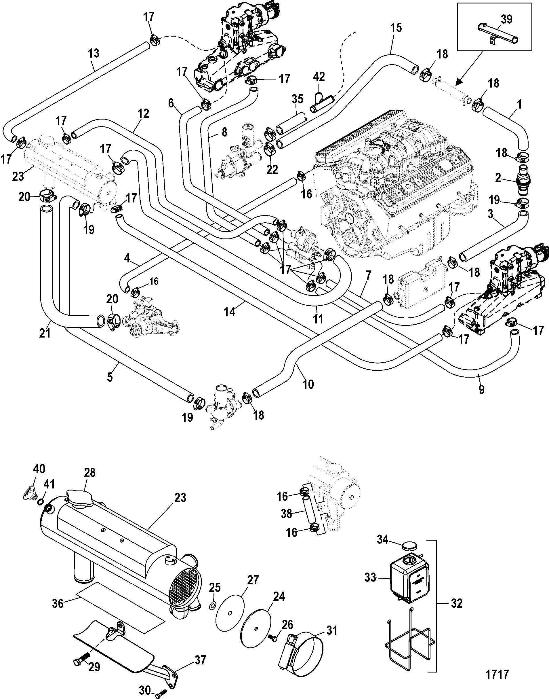Automotive cooling system diagram closed cooling system for mercruiser 5 0l 350 mag mx 6 2l