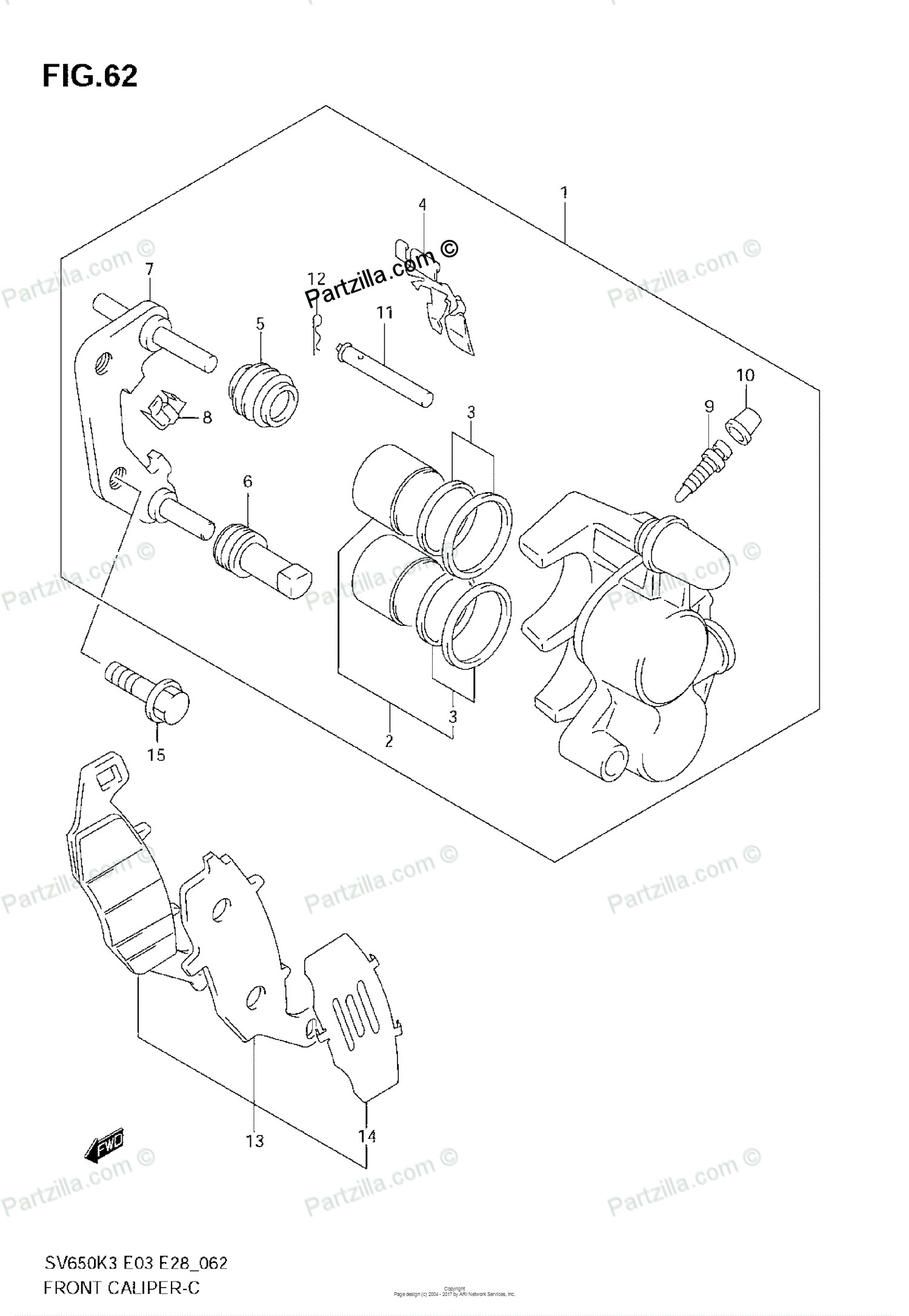 Brake Caliper Parts Diagram