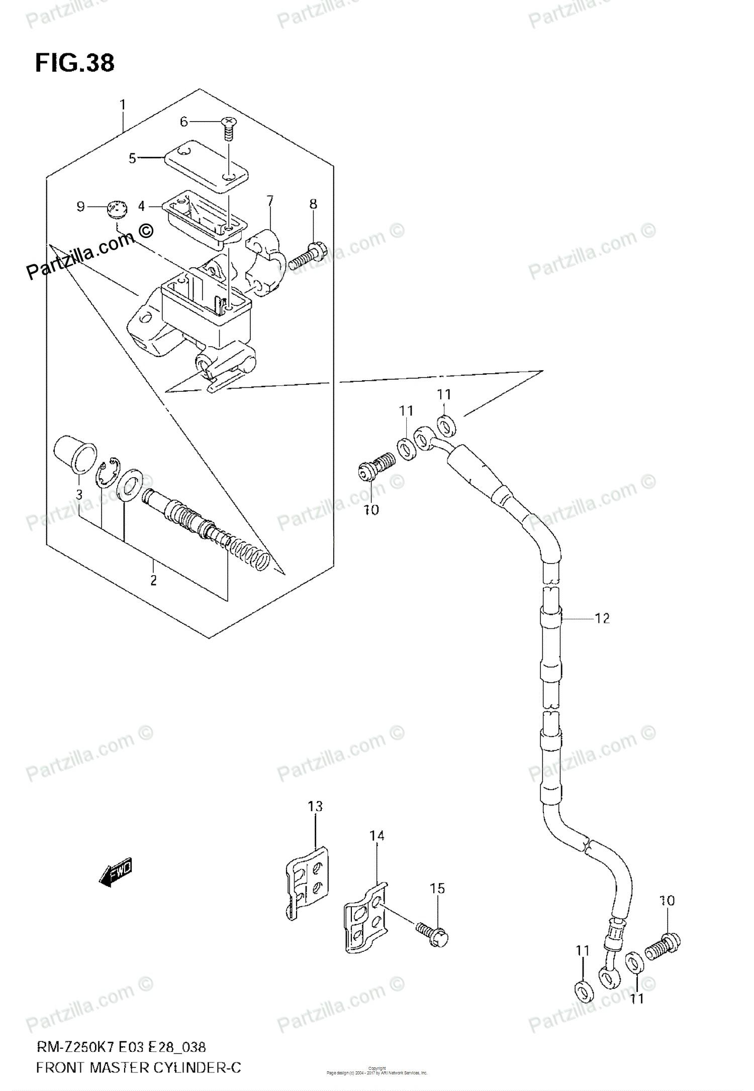 Brake Master Cylinder Diagram