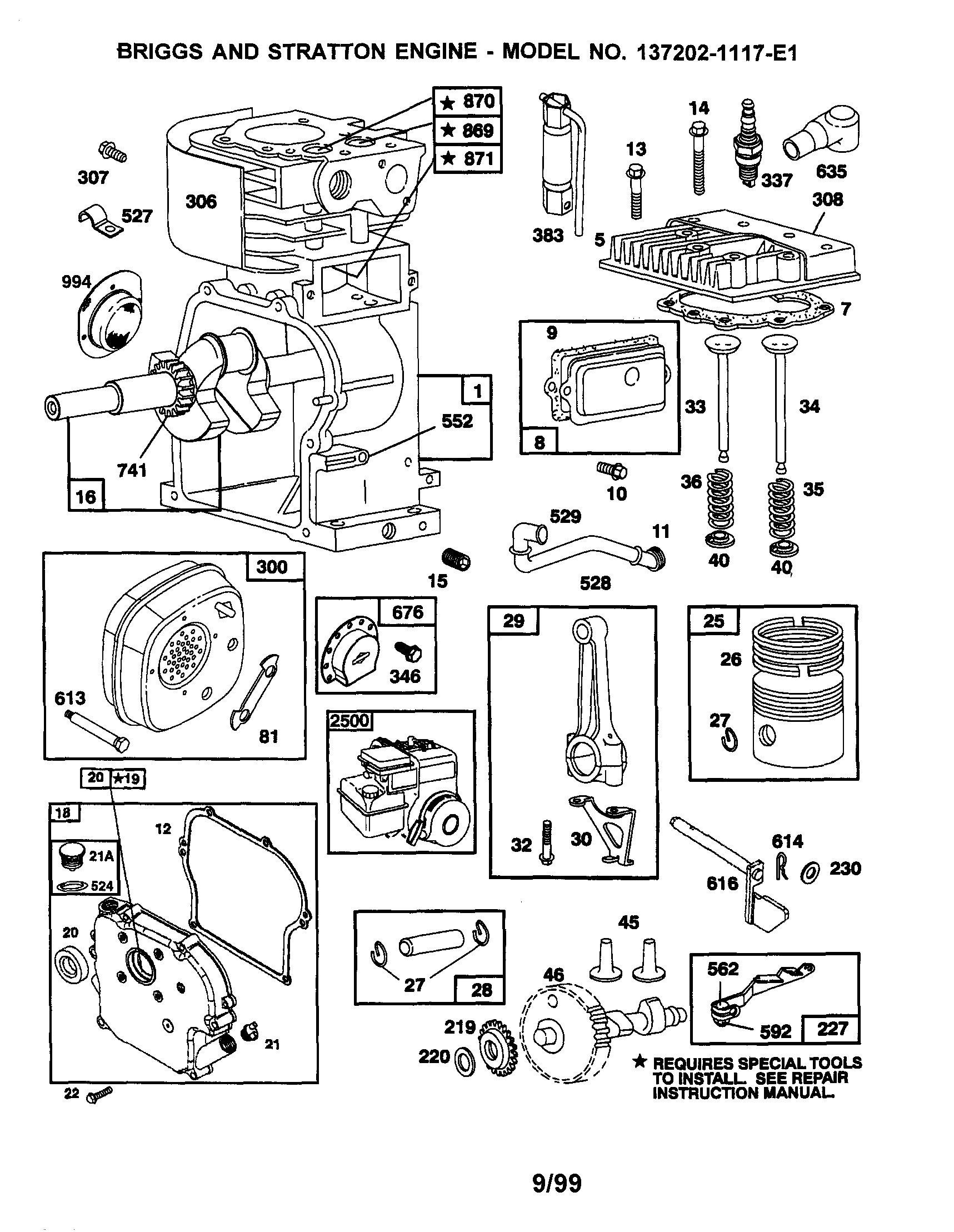 Briggs And Stratton 5hp Engine Diagram
