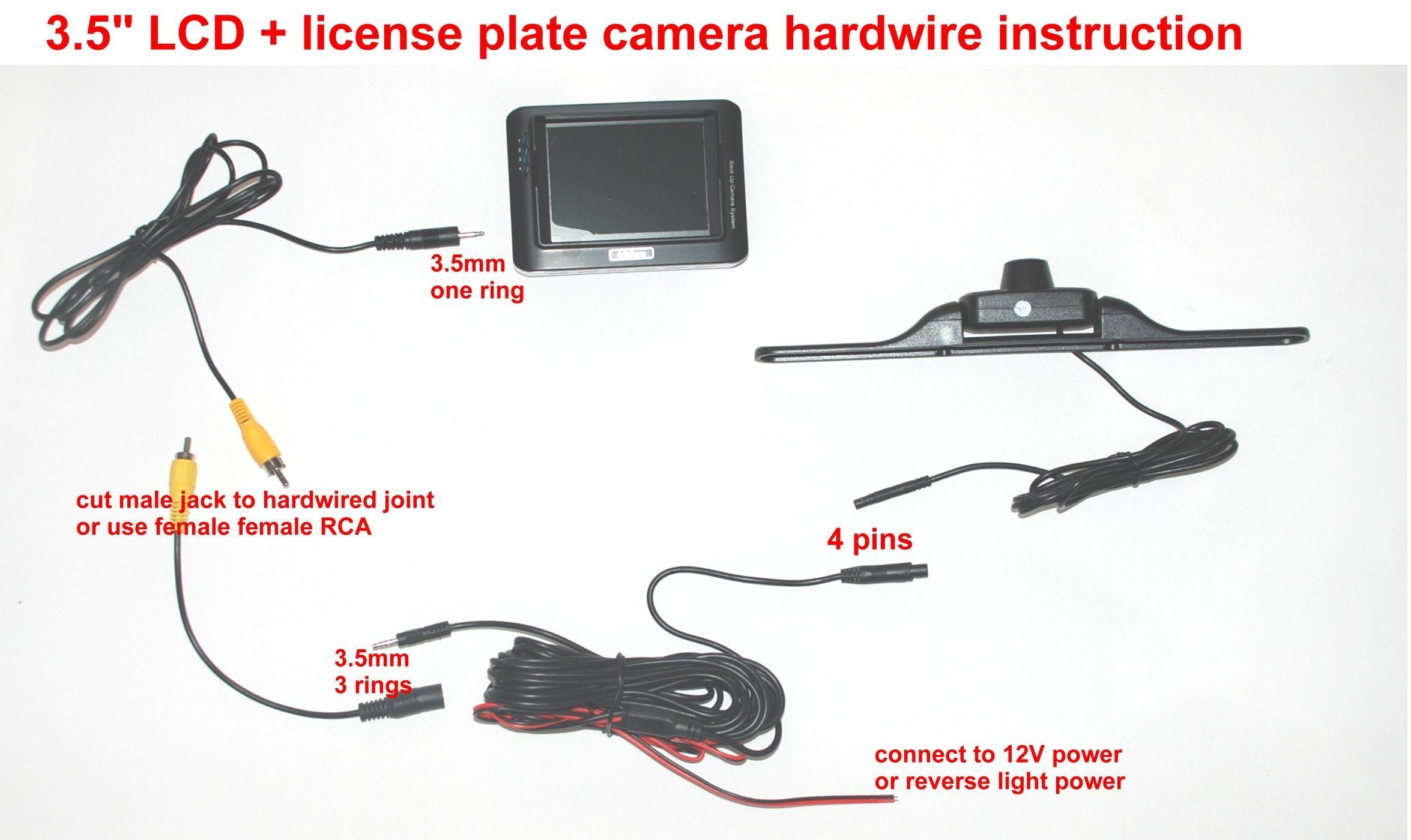 Tft Backup Camera Wiring Diagram Building Wiring